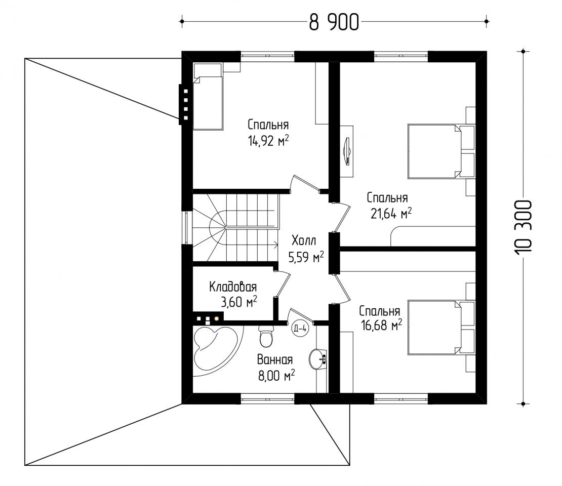 Двухэтажный дом с гаражом