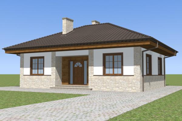 Одноэтажный дом (76 кв. м)