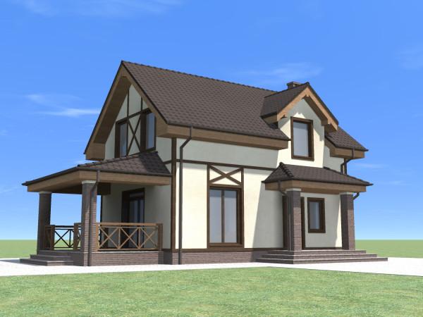 Двухэтажный дом (85 кв. м)